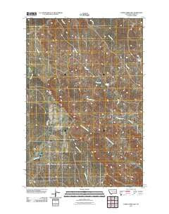 Horse Creek Hill Montana Historical topographic map, 1:24000 scale, 7.5 X 7.5 Minute, Year 2011