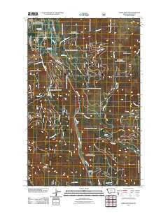 Horse Mountain Montana Historical topographic map, 1:24000 scale, 7.5 X 7.5 Minute, Year 2011