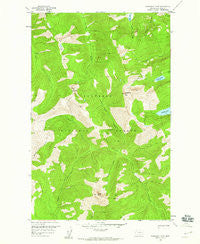 Horseshoe Peak Montana Historical topographic map, 1:24000 scale, 7.5 X 7.5 Minute, Year 1958