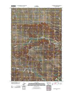 Horsethief Creek Montana Historical topographic map, 1:24000 scale, 7.5 X 7.5 Minute, Year 2011