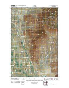 Hot Springs NE Montana Historical topographic map, 1:24000 scale, 7.5 X 7.5 Minute, Year 2011