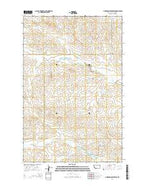Hudiburgh Reservoir Montana Current topographic map, 1:24000 scale, 7.5 X 7.5 Minute, Year 2014 from Montana Map Store