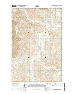Hudiburgh Reservoir NW Montana Current topographic map, 1:24000 scale, 7.5 X 7.5 Minute, Year 2014 from Montana Map Store