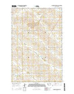 Hudiburgh Reservoir SE Montana Current topographic map, 1:24000 scale, 7.5 X 7.5 Minute, Year 2014 from Montana Map Store