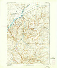 Huntley Montana Historical topographic map, 1:125000 scale, 30 X 30 Minute, Year 1893