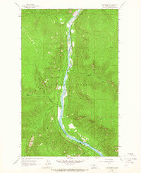 Inch Mountain Montana Historical topographic map, 1:24000 scale, 7.5 X 7.5 Minute, Year 1963