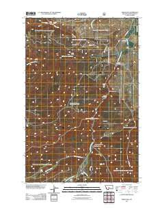 Indian Hill Montana Historical topographic map, 1:24000 scale, 7.5 X 7.5 Minute, Year 2011