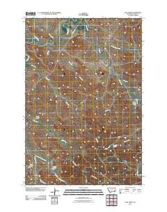 Jack Creek Montana Historical topographic map, 1:24000 scale, 7.5 X 7.5 Minute, Year 2011