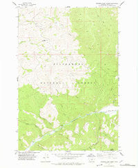Jennings Camp Creek Montana Historical topographic map, 1:24000 scale, 7.5 X 7.5 Minute, Year 1977