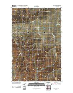 John Coulee Montana Historical topographic map, 1:24000 scale, 7.5 X 7.5 Minute, Year 2011