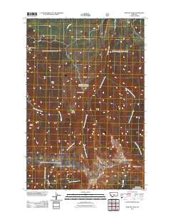 Jump Off Peak Montana Historical topographic map, 1:24000 scale, 7.5 X 7.5 Minute, Year 2011