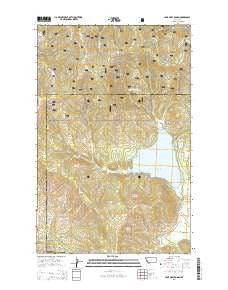 Lake Mary Ronan Montana Current topographic map, 1:24000 scale, 7.5 X 7.5 Minute, Year 2014