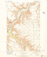 Lander Crossing Montana Historical topographic map, 1:24000 scale, 7.5 X 7.5 Minute, Year 1954