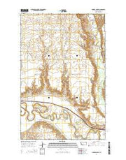 Lindeke Coulee Montana Current topographic map, 1:24000 scale, 7.5 X 7.5 Minute, Year 2014 from Montana Maps Store