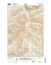 Lindemulder Hill Montana Current topographic map, 1:24000 scale, 7.5 X 7.5 Minute, Year 2014 from Montana Maps Store