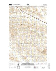 Lindsay Montana Current topographic map, 1:24000 scale, 7.5 X 7.5 Minute, Year 2014 from Montana Maps Store