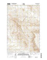 Lindsay SW Montana Current topographic map, 1:24000 scale, 7.5 X 7.5 Minute, Year 2014 from Montana Maps Store