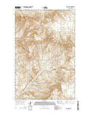 Line Coulee Montana Current topographic map, 1:24000 scale, 7.5 X 7.5 Minute, Year 2014 from Montana Maps Store