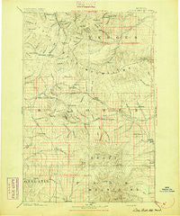 Little Belt Mts. Montana Historical topographic map, 1:250000 scale, 1 X 1 Degree, Year 1894