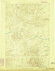 Little Belt Mts. Montana Historical topographic map, 1:250000 scale, 1 X 1 Degree, Year 1886