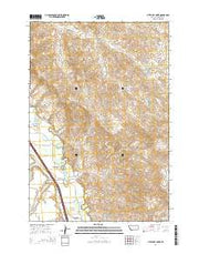 Little Dry Creek Montana Current topographic map, 1:24000 scale, 7.5 X 7.5 Minute, Year 2014 from Montana Maps Store