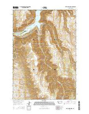 Little Finger Ridge Montana Current topographic map, 1:24000 scale, 7.5 X 7.5 Minute, Year 2014 from Montana Maps Store