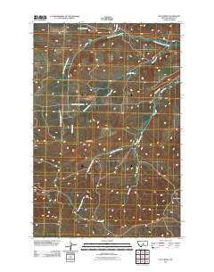 Loco Ridge Montana Historical topographic map, 1:24000 scale, 7.5 X 7.5 Minute, Year 2011