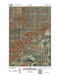 Locomotive Butte Montana Historical topographic map, 1:24000 scale, 7.5 X 7.5 Minute, Year 2011
