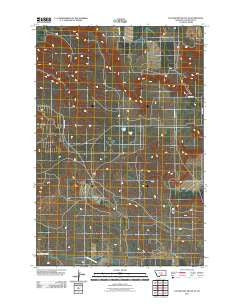 Locomotive Butte SE Montana Historical topographic map, 1:24000 scale, 7.5 X 7.5 Minute, Year 2011