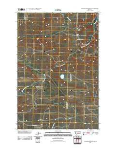 Locomotive Butte SW Montana Historical topographic map, 1:24000 scale, 7.5 X 7.5 Minute, Year 2011