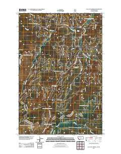 Lolo Hot Springs Montana Historical topographic map, 1:24000 scale, 7.5 X 7.5 Minute, Year 2011