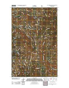 Lost Horse Mountain Montana Historical topographic map, 1:24000 scale, 7.5 X 7.5 Minute, Year 2011