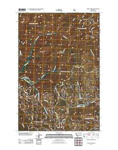 Lupine Creek Montana Historical topographic map, 1:24000 scale, 7.5 X 7.5 Minute, Year 2011