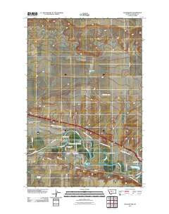 Manchester Montana Historical topographic map, 1:24000 scale, 7.5 X 7.5 Minute, Year 2011