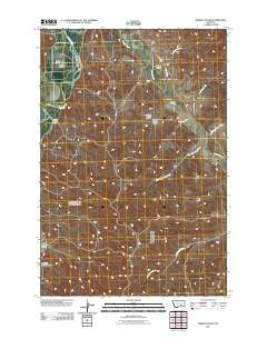 Marsh Coulee Montana Historical topographic map, 1:24000 scale, 7.5 X 7.5 Minute, Year 2011
