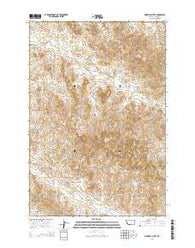 Maxwell Butte Montana Current topographic map, 1:24000 scale, 7.5 X 7.5 Minute, Year 2014