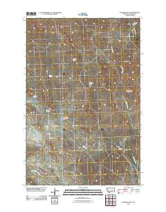McGinnis Butte Montana Historical topographic map, 1:24000 scale, 7.5 X 7.5 Minute, Year 2011