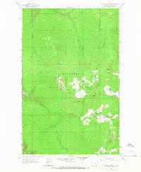Mc Guire Mountain Montana Historical topographic map, 1:24000 scale, 7.5 X 7.5 Minute, Year 1963