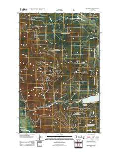 Meadow Peak Montana Historical topographic map, 1:24000 scale, 7.5 X 7.5 Minute, Year 2011