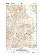 Mills Creek East Montana Current topographic map, 1:24000 scale, 7.5 X 7.5 Minute, Year 2014 from Montana Maps Store