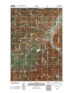 Miner Montana Historical topographic map, 1:24000 scale, 7.5 X 7.5 Minute, Year 2011