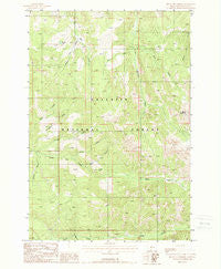 Mount Blackmore Montana Historical topographic map, 1:24000 scale, 7.5 X 7.5 Minute, Year 1988