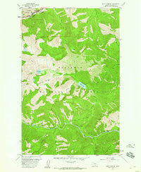 Mount Bradley Montana Historical topographic map, 1:24000 scale, 7.5 X 7.5 Minute, Year 1958