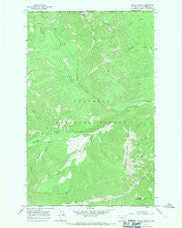 Mount Hefty Montana Historical topographic map, 1:24000 scale, 7.5 X 7.5 Minute, Year 1966