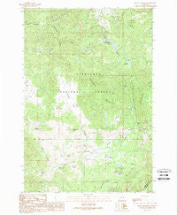 Mount Humbug Montana Historical topographic map, 1:24000 scale, 7.5 X 7.5 Minute, Year 1989
