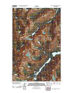 Mount Cleveland Montana Historical topographic map, 1:24000 scale, 7.5 X 7.5 Minute, Year 2011