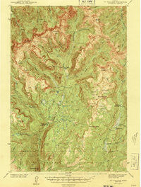 Mt Wallace Montana Historical topographic map, 1:62500 scale, 15 X 15 Minute, Year 1943