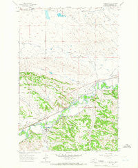 Musselshell Montana Historical topographic map, 1:24000 scale, 7.5 X 7.5 Minute, Year 1963