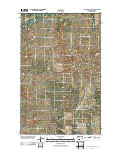 Nightshoot Coulee Montana Historical topographic map, 1:24000 scale, 7.5 X 7.5 Minute, Year 2011
