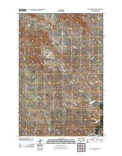 Noble Reservoir Montana Historical topographic map, 1:24000 scale, 7.5 X 7.5 Minute, Year 2011